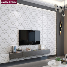 3d irregular pattern soft package wallpaper bedroom living room kids waterproof anti-collision foam PE wall stickers