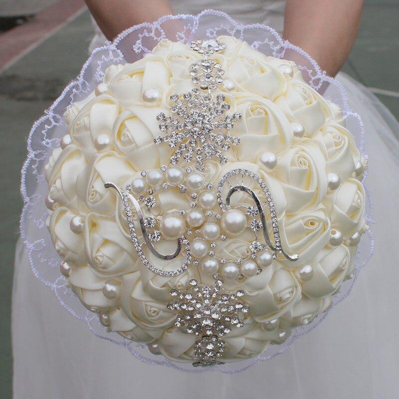 Свадебный букет невесты с жемчужинами, живые доставка
