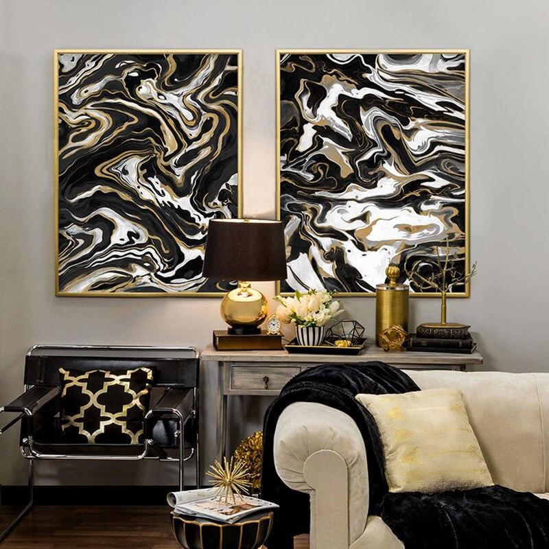 Online Kaufen Großhandel schwarz gold bilder aus China schwarz ...
