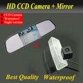 """2 1 HD 4.3 """" espejo Monitor + HD CCD cámara especial del coche de visión trasera cámara de reserva para Toyota RAV4 2013/14 de la cámara / 2012 Prius"""