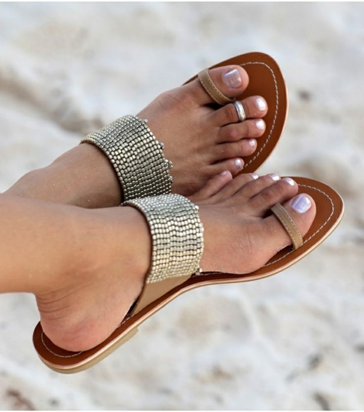 Real Image Sandals Women Flip Flops Sandals Bling Fashion Beach Sandals Comfortable Rome Flat Heel Slip-On Soft Leather Sandals fashion women breathable flat heel anti skidding beach shoes rome sandals outdoor leisure flat bottom comfortable shoes lace up