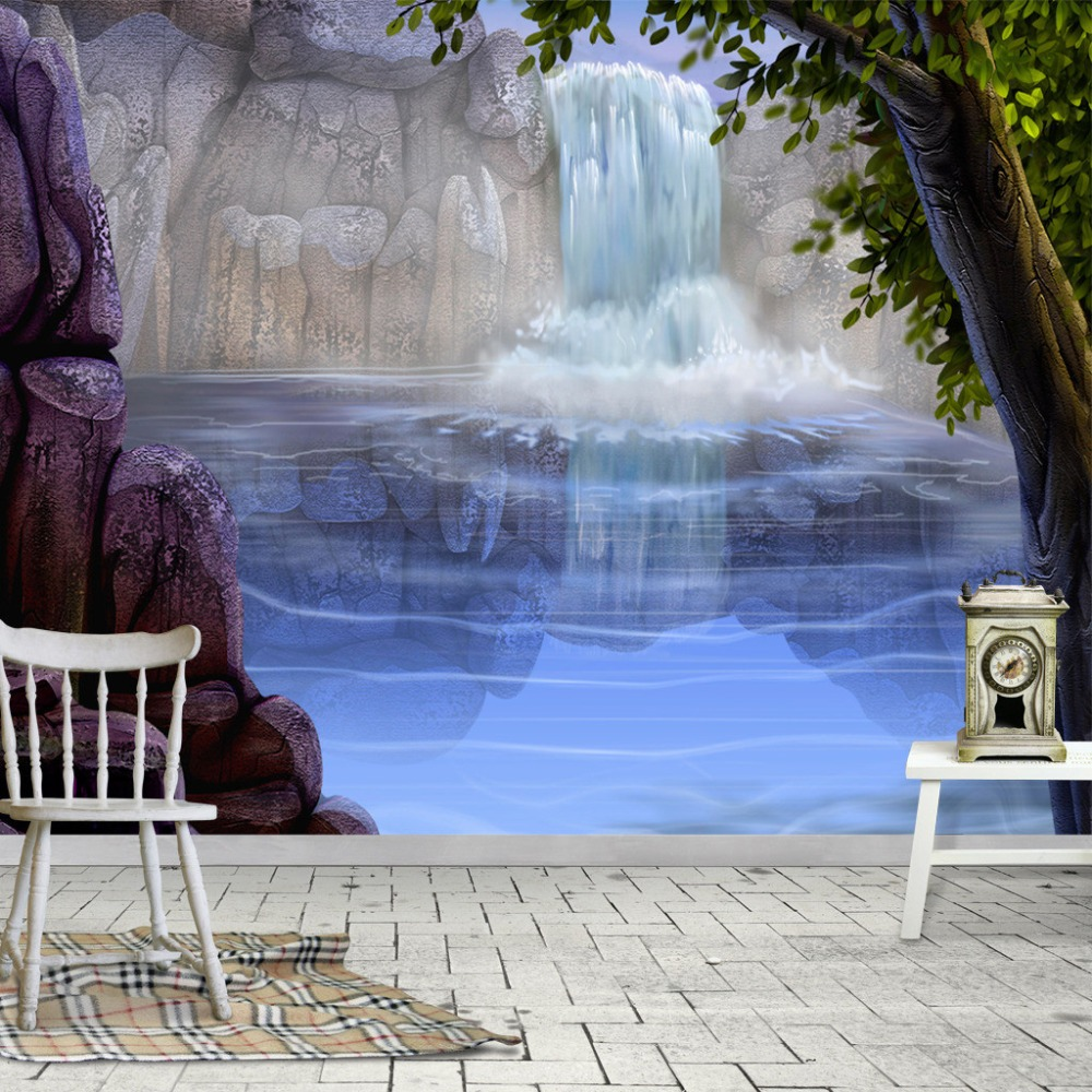 Custom Photo Wallpaper Fashion 3D Stereoscopic Modern Landscape Mural Painting For Living Room Sofa Bedroom Non-woven Wall Paper
