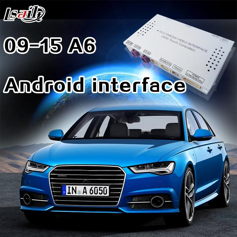 Android 6.0 Navigation Interface pour AUDI A6 avec WIFI Réseau, Dynamique Parkig Ligne Directrice