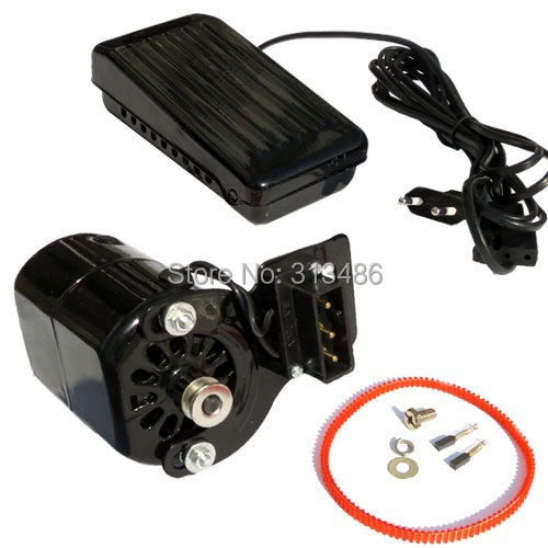 Ac220v Household Sewing Machine Motor + Pedal Switch Push Button Switch