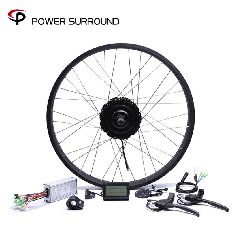 Réel 2019 précipité 48v750w Bafang gros arrière vélo électrique Kit de Conversion roue moteur sans brosse avec 20 ''26''rim