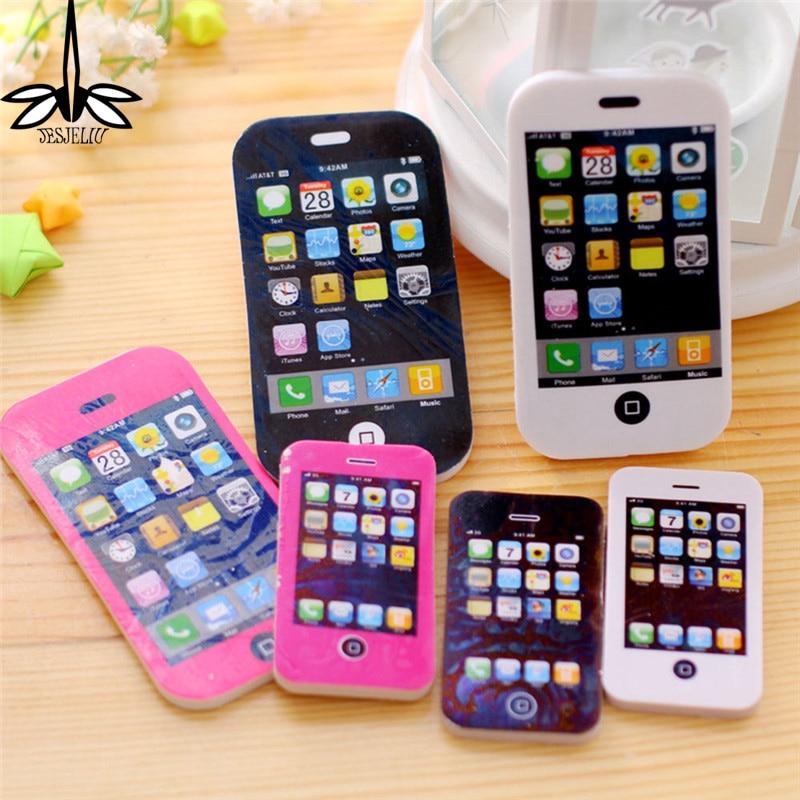 Big Size 2PCS fancy phone shape eraser / phone eraser / gift eraser/children gift/sweet stationery Office & School Supplies