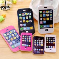 Große Größe 2 STÜCKE phantasie telefon form radiergummi/telefon radiergummi/geschenk radiergummi/kinder geschenk/süße schreibwaren Office & School Supplies