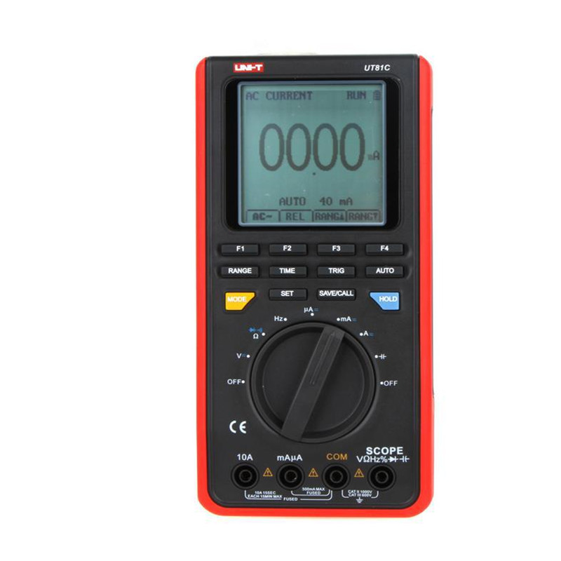 LCD Backlight 16MHz 80MS/s Real-Time Sample Rate USB Interface Scope DMM Oscillographic type Digital Multimeters UNI-T UT81C
