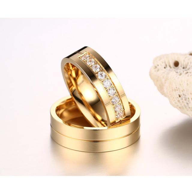 Trendy Wedding Bands Rings  Stainless Steel