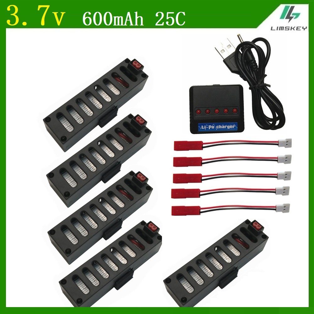 For Jy018 Battery High Quality 37v 600mah 25c Battrey Part With 5 All About Hobby Usb Charger Schematic Diagram In 1 Quodcopter Drone Wifi Parts Accessories From
