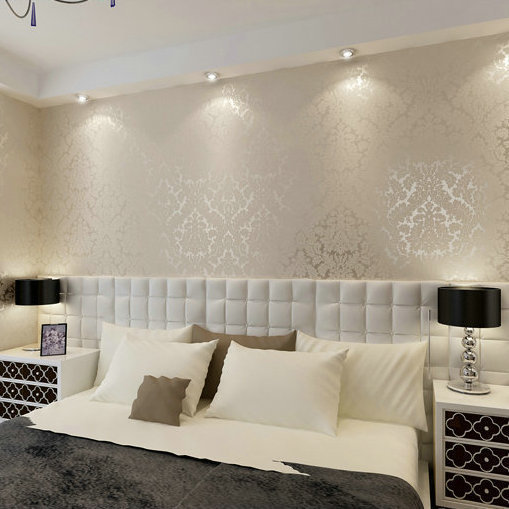 Victorian Damask wallpaper silver scroll background wall wallpaper pvc roll wall papers home decor for living room & bedroom 2015 new brand 5m roll victorian country style for floral flowers background wallpaper