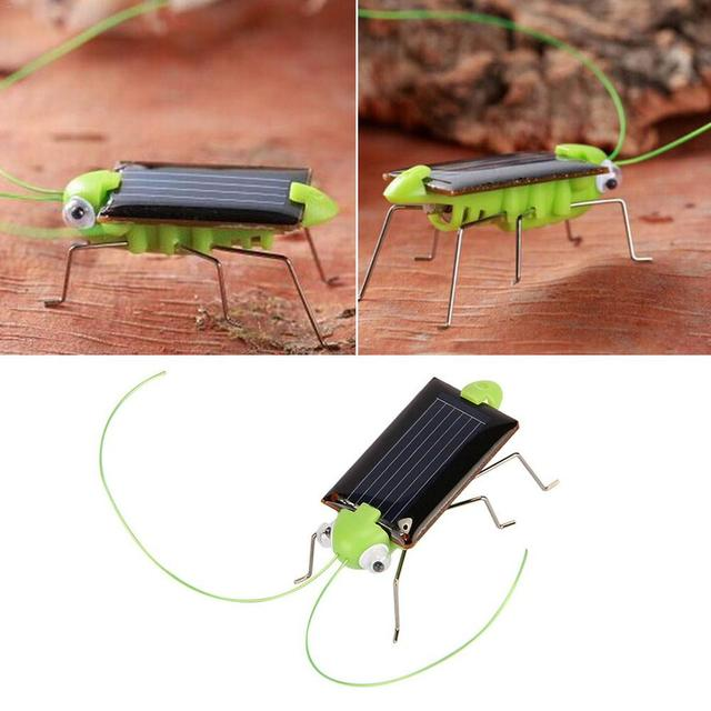 2019 New Solar Grasshopper Educational Solar Powered Grasshopper Robot Toy Required Gadget Gift Solar Toys No Batteries For Kid 2
