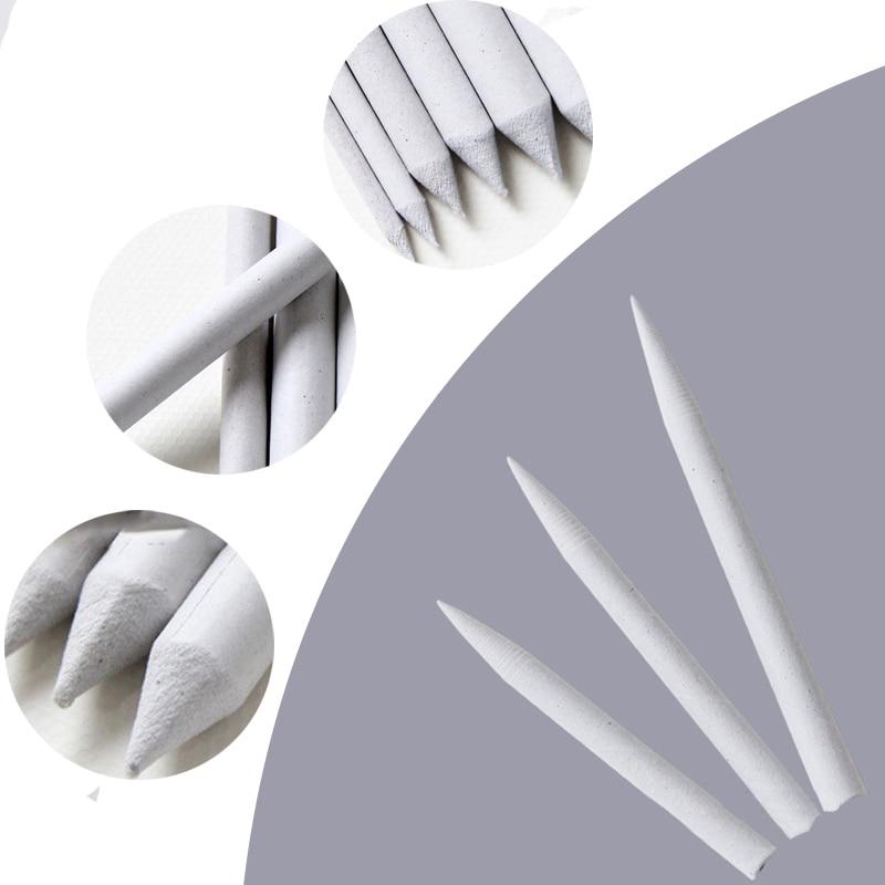 15pcs Blending Smudge Stump Stick Single Smear Tortillon Sketch Art Drawing Tools Pastel Rice Paper Erasable Brush