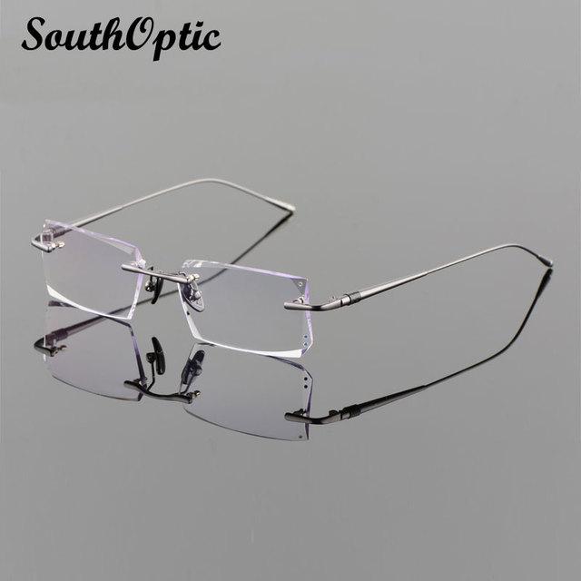 2016 gafas de dioptrías hombres coreanos marco óptico incluyendo 1.61 Asphereic Tinted EMI lentes UV400 58100 gafas sin montura