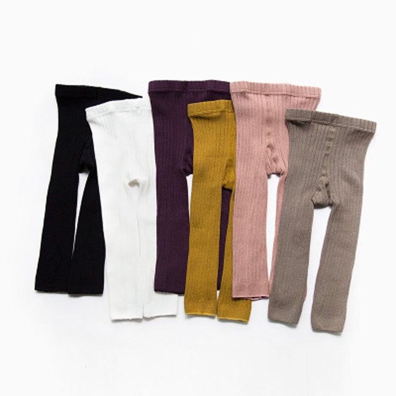 Warnen Herbst Mädchen Leggings Striped Dünne Mädchen Rib Leggings Hohe Taille Kinder Kleidung Für Mädchen Baby Kleidung Großhandel Modischer (In) Stil;