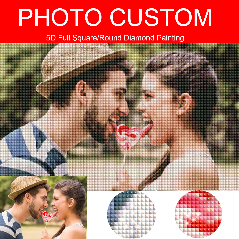 Pintura de diamante foto personalizada personalización privada personalizada 5D cuadrado completo/taladro redondo Pic Daimond pintura punto de cruz 166XP