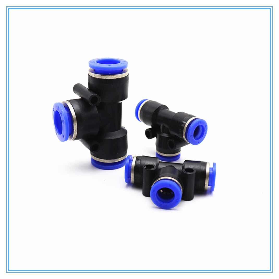 Pneumatic Equal Quick Push to Connect Y Union Fittings OD 4mm-16mm 6 Sizes DE