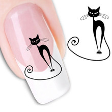 3D Cat Nail Art Stickers Decals 2017 Fashion 11pcs Girl Fingernail Accessories Decoration Manicure
