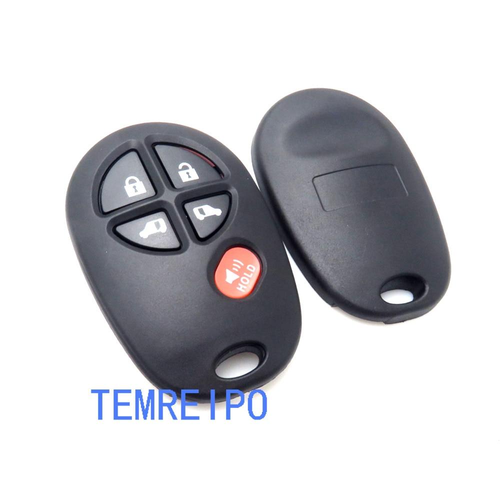 10pcs/lot 4+1 Buttons Remote Key Shell Keyless Case Fob ...