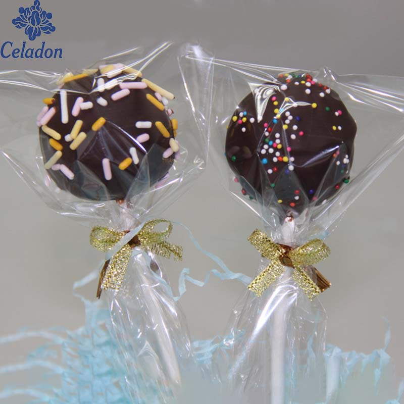 Super Value Baking Packing Bag Transparent Plastic Bag Lollipop Bag 100 Pcs/lot For Candy Wrapping Bread Wrapping