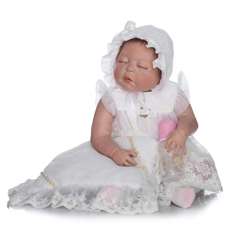 23 Lifelike Reborn Baby Dolls Full Vinyl Body So Truly Girl Model 57cm bathe bonecas closed eyes fashion dolls for sale23 Lifelike Reborn Baby Dolls Full Vinyl Body So Truly Girl Model 57cm bathe bonecas closed eyes fashion dolls for sale