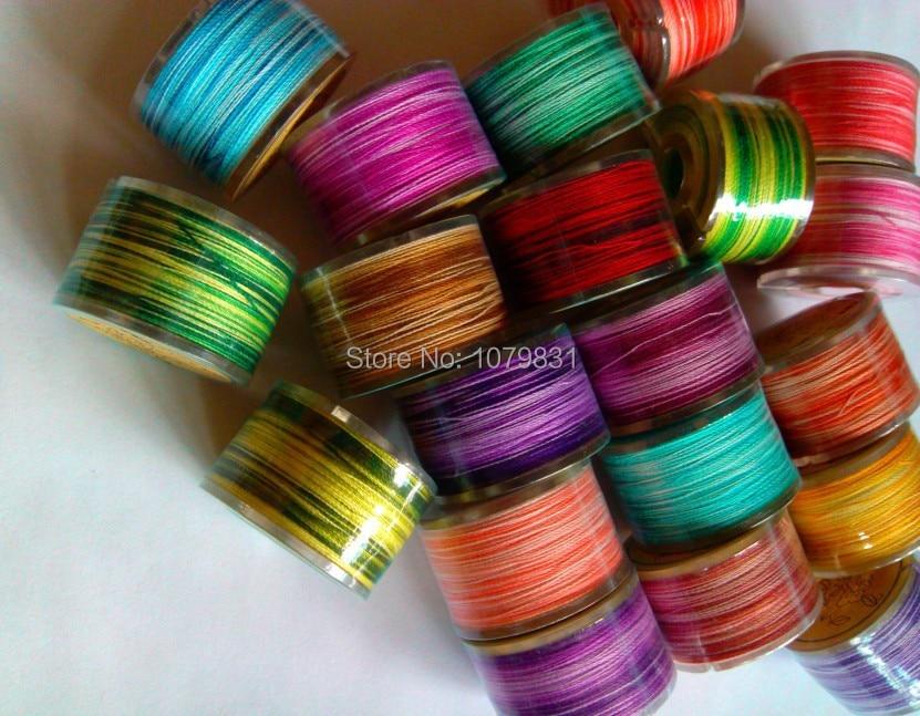 Хлопок вариации нитки поперечной прошивки нитки для ручного шитья 20 цветов x 100 м/шт