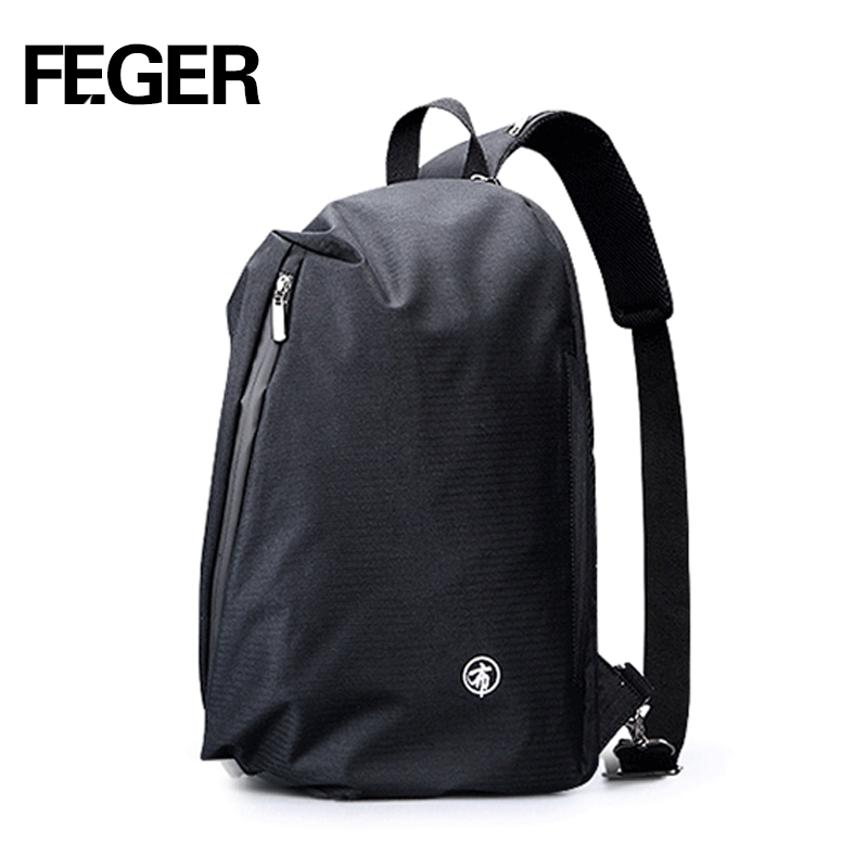 FEGER chest bag Men's Backpack male School Bag For Teenagers Laptop Backpacks Men Travel Bags Large Capacity USB charge port 2018 waterproof backpack men school bags for teenagers male large capacity laptop backpacks women travel bag designer rucksack