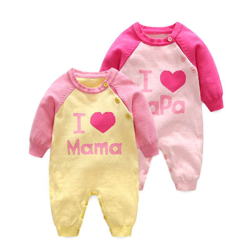 Newborn Baby Girl romper cotton Conjoined Clothing Autumn Long Sleeve Jumpsuit Toddler Baby girl Wear i love mama papa 2pcs set newborn floral baby girl clothes 2017 summer sleeveless cotton ruffles romper baby bodysuit headband outfits sunsuit