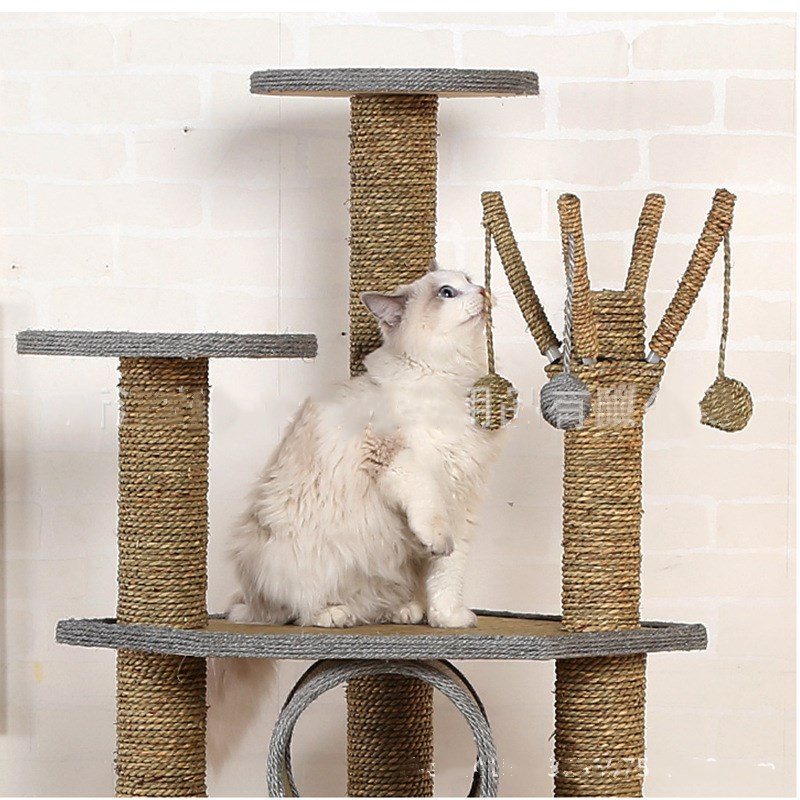 Plus grand chien chat escalade sisal cadre animal de compagnie sautant gratter arbre chat chien gratter jouets pet intéressant jouets - 4