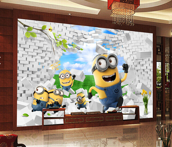 Living Room Background Animated: Custom Animation Wallpaper. 3D Cute Little Yellow People