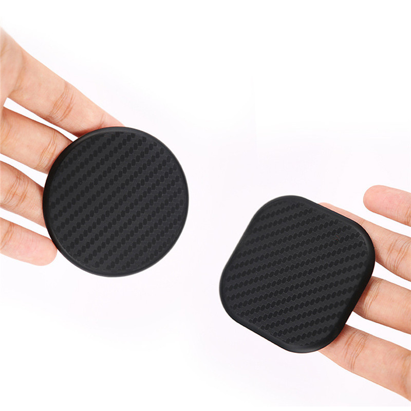 2*Carbon Fiber Car Dashboard Water Cup Slot Non-Slip Mat  Adsorption Elasticity