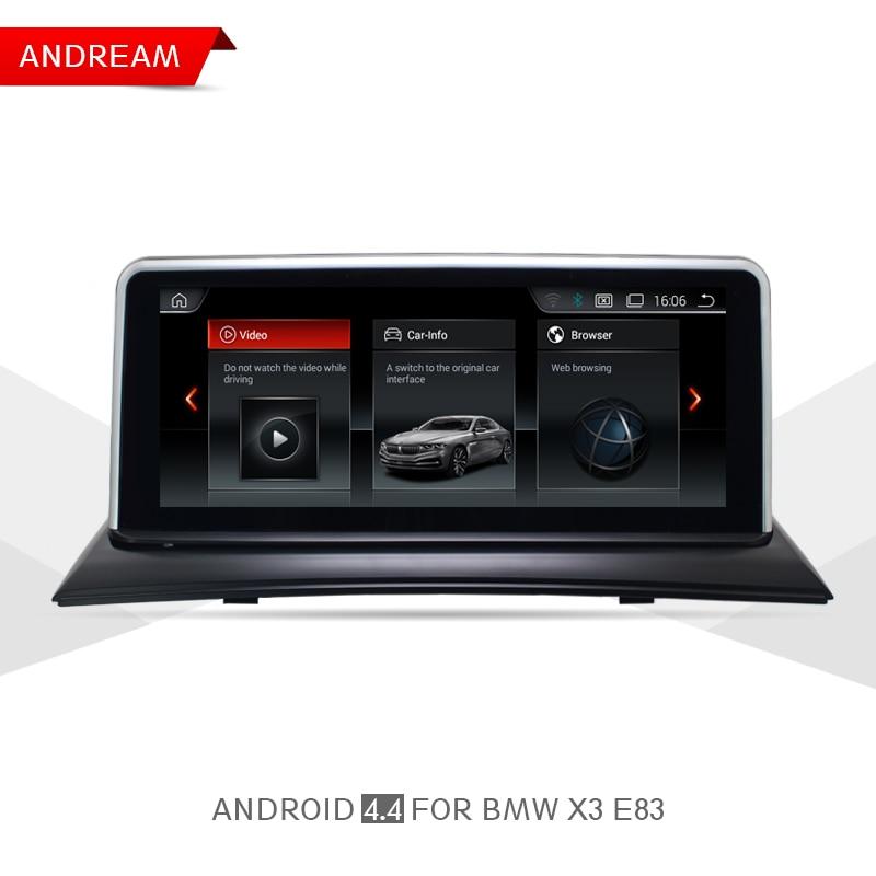 10,25 4 ядра автомобиль мультимедийный плеер для BMW X3 E83 gps-навигации Android Wifi руль ID6 Интерфейс EW967AW-CIC