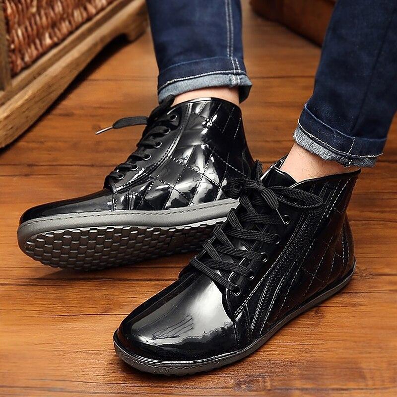 2019 Frühling/herbst Superstar Männer Ankle Regen Stiefel Koreanische Version Männlichen Schuhe Plus Größe 40-44 Wasserdichte Schuhe Mann NüTzlich FüR äTherisches Medulla