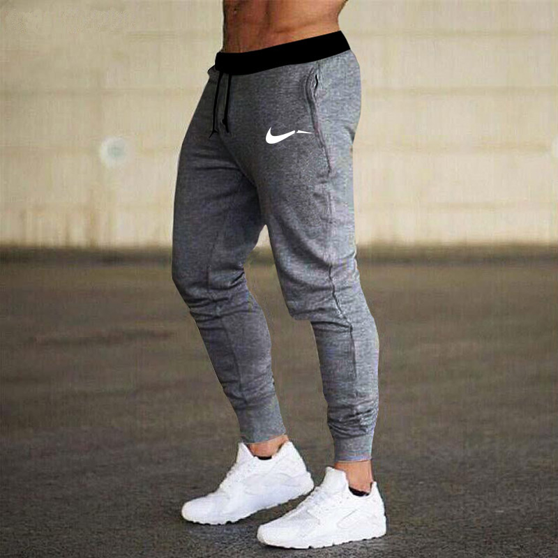 New Brand Printing Men Fitness Sweatpants Male Gyms Bodybuilding Workout Cotton Trousers Casual Joggers Sportswear Pencil Pants