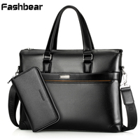 New Arrival PU Leather Briefcases For Men Brown 13 Cartable Laptop Bag Mens Business Bag Shoulder Crossbody office Bag 781022