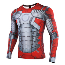 iron Man MK5 2019 New 3D Compression Shirt Printed T shirts Men Cosplay Quick-drying clothes For Gyms Shirts