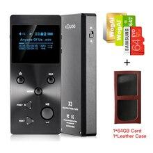 XDUOO X3 64G Tf + Caso Profesional Sin Pérdidas de Alta Fidelidad de Audio MP3 Reproductor de Música Soporte de Pantalla OLED HD APE/FLAC/ALAC/WAV/WMA/OGG/MP3