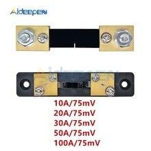 FL-2 Shunt Esterno 100A/75mV 50A/75mV 30A/75mV 20A/75mV 10A/75mV Misuratore di Corrente misura Shunt Per Amperometro Amp Meter