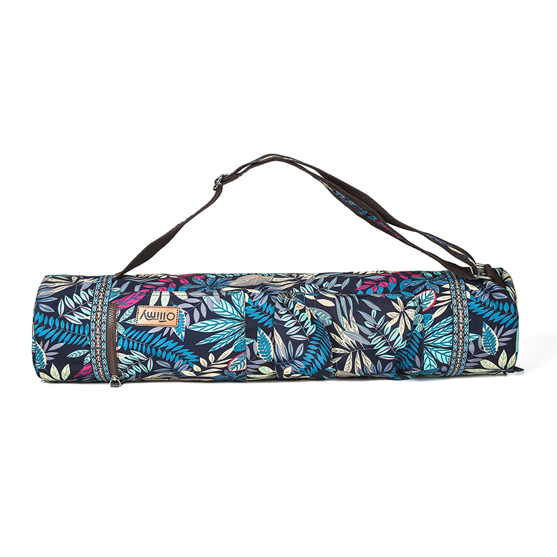 Image 3 - Printed Yoga Mat Bag Gym Mat Case For Momen Men Pilates Fintess Exercise Pad Easy Carry Yoga Backpack Dance Sports Yoga Bags-in Yoga Mats from Sports & Entertainment