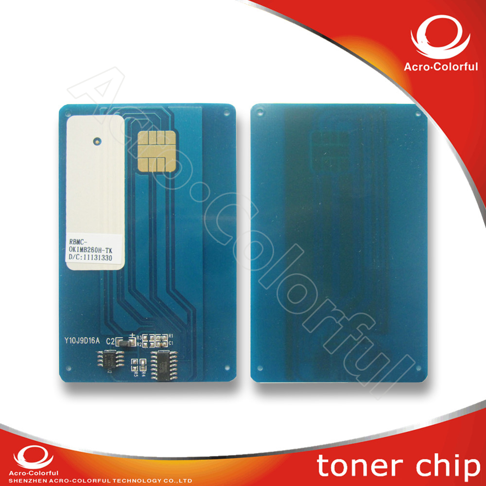 1240001 toner cartridge chip for OKI MB260 280 290 reset chip 56123401 toner cartridge chip for oki data mb260 mb280 mb290 okidata mb 260 280 290 b260 printer powder refill reset counter 3k