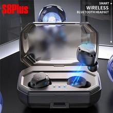TWS-S8 беспроводная Bluetooth гарнитура сенсорный мини Новый 5,0 спортивные наушники беспроводные бинауральные водостойкие 3000 мАч зарядная коробка HIFI Звук