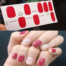 Fashion Full Cover Nail Polish Wraps Adhesive Nail Stickers Nail Art Decorations Manicure Tools Environmental for Woman D29 стоимость
