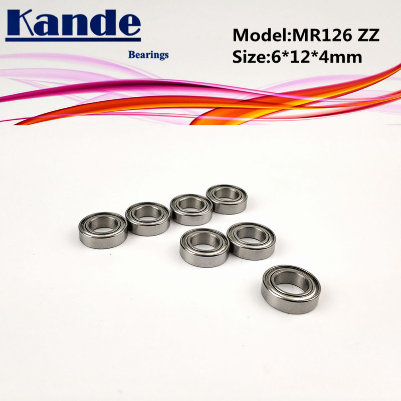 Kande Bearings 10pcs <font><b>MR126ZZ</b></font> / 10pcs MR126 2RS 6x12x4mm MR126 ZZ MR1262RS MR126 Miniature Ball Bearing image