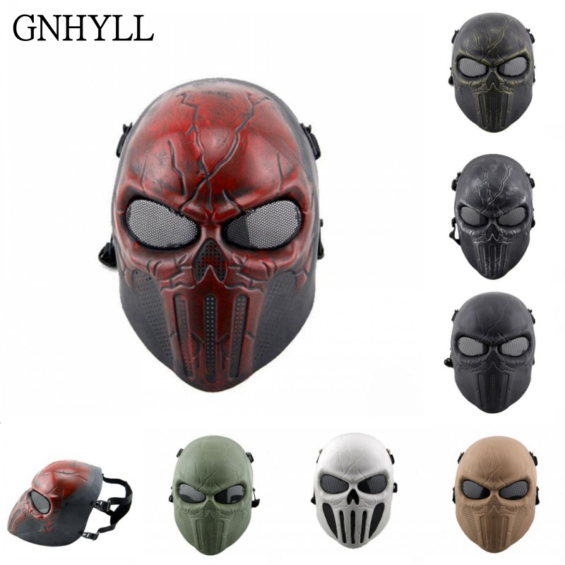 Tactical Punisher Skull Full Face Metal Mesh Mask Airsoft Paintball Military Ziz01 Tan Back To Search Resultshome