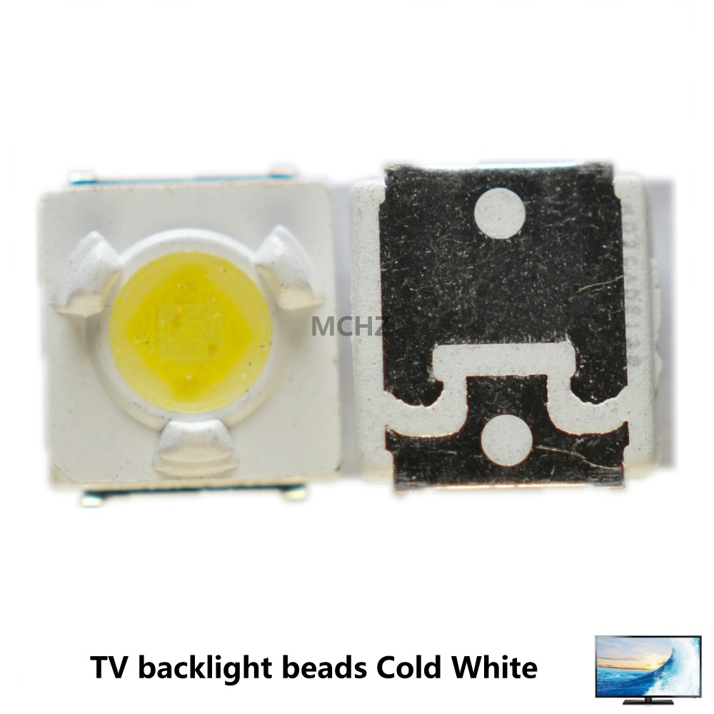2000PCS/Lot LUMENS SMD LED 3537 3535 3VF 1W Cool white For TV Backlight Lamp beads image