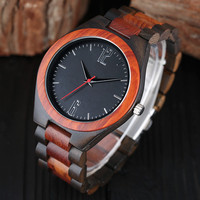 100% Natural Wooden Watches Man Creative Sport Bracelet Analog Bamboo Quartz Wristwatch Luxury Gift Male Clock Relogio Masculino