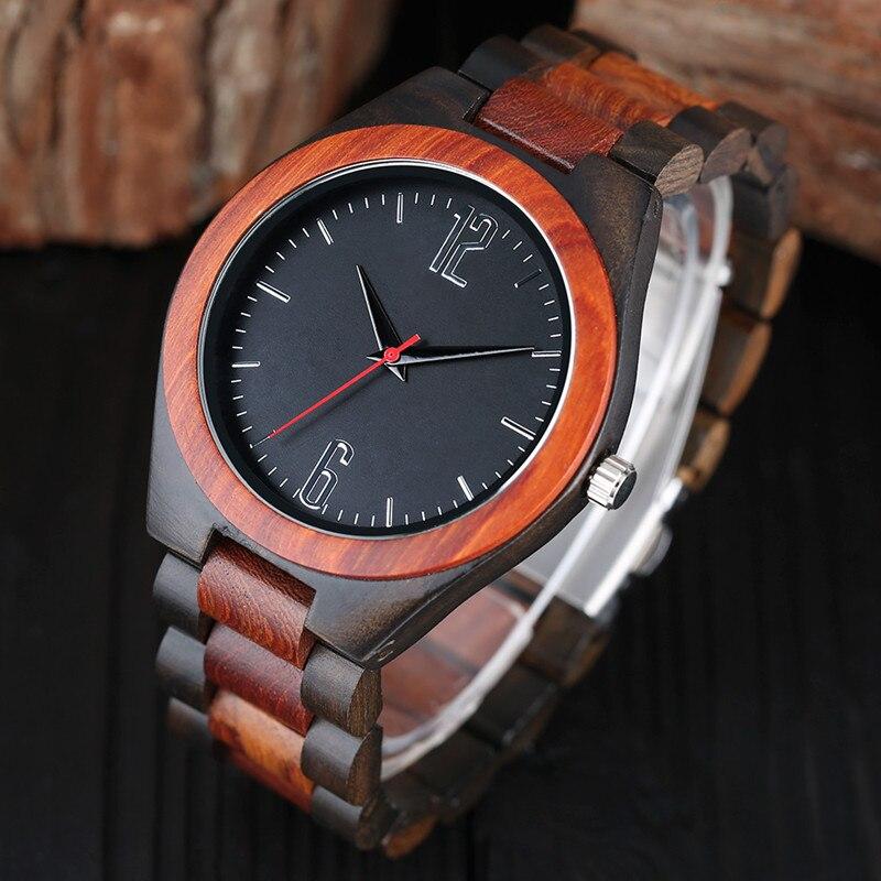 Prix pour 100% Nature En Bois Montres Homme Creative Sport Bracelet Analogique Bambou Quartz Montre-Bracelet Cadeau Homme Horloge Relogio Masculino