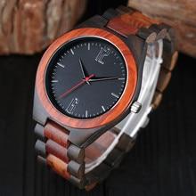 100% De Madera Natural Pulsera Analógico Relojes Hombre Deporte Creativo De Bambú Regalo de Cuarzo Reloj de pulsera Hombre Reloj Relogio masculino