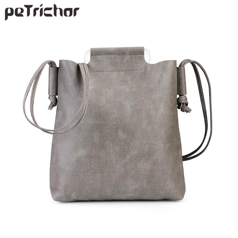 Griff Handtasche Frau Tote Frauen Eimer Mode Vintage Umhängetasche Marke Designer Damen Leder Umhängetasche Weiblichen Taschen