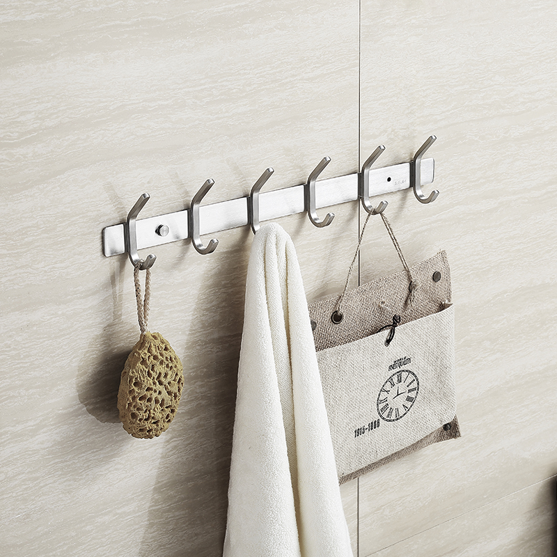 R833 Bathroom Accessories 1 / 3 / 4 / 5 / 6 Hooks Stainless Bathroom Wall  Towel Hooks Hat Coat Clothes Hook Rack Hanger In Robe Hooks From Home  Improvement ...